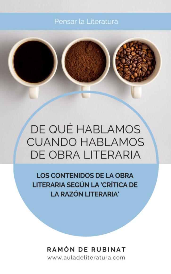Portada del libro '¿De qué hablamos cuando hablamos de obra literaria?'