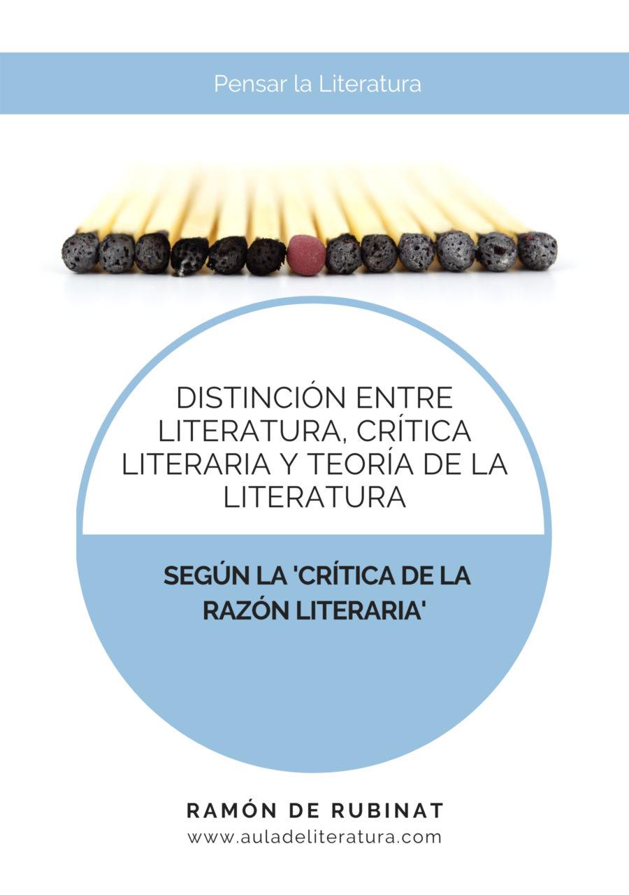 Portada del libro 'Distinción entre Literatura, Crítica literaria y Teoría de la literatura'